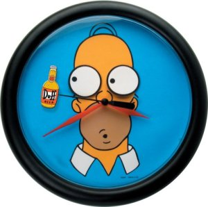 Homer Rotating Eyes Wall Clock